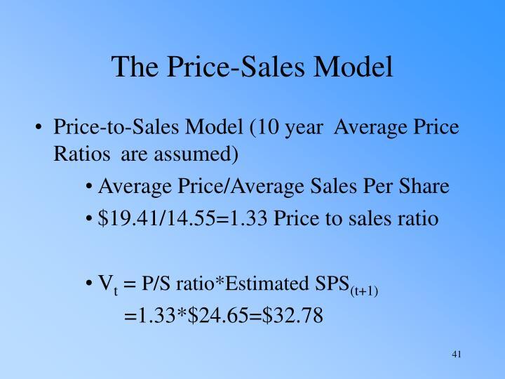 The Price-Sales Model