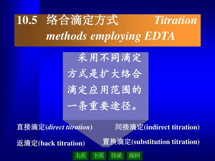 采用不同滴定方式是扩大络合滴定应用范围的一条重要途径。