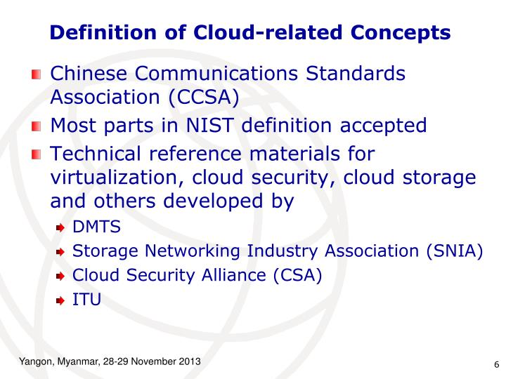 Definition of Cloud-related Concepts