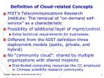 definition of cloud related concepts1