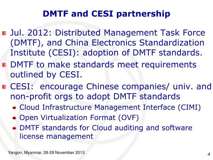 DMTF and CESI partnership