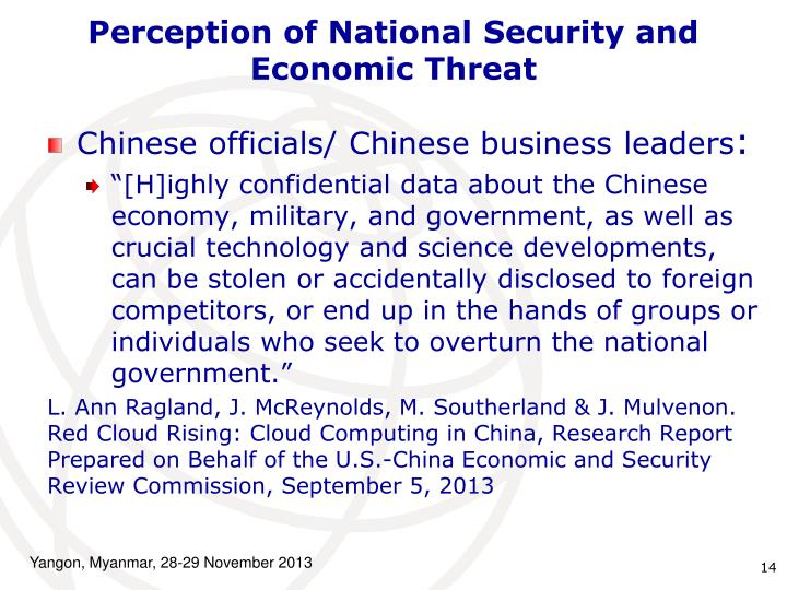 Perception of National Security and Economic Threat