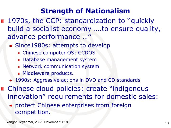 Strength of Nationalism