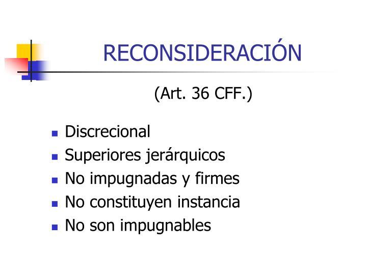 RECONSIDERACIÓN