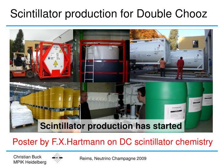 Scintillator production for Double Chooz
