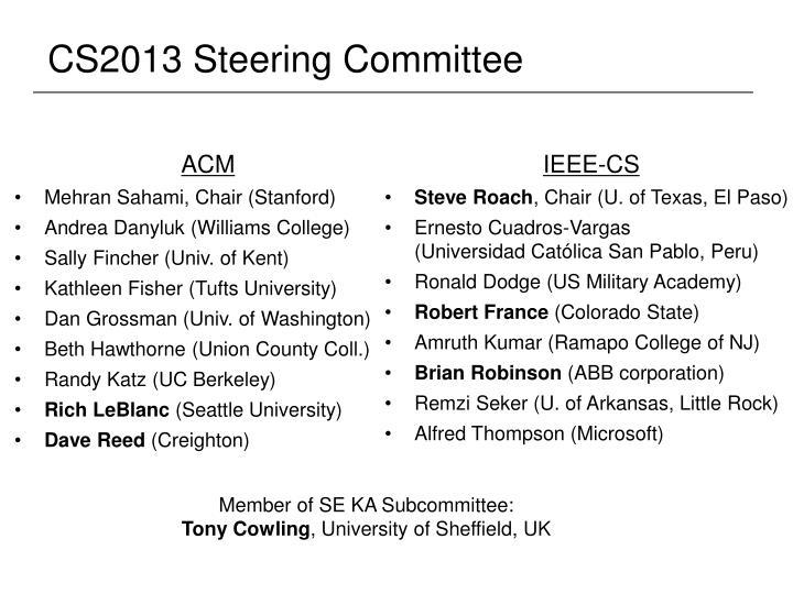 CS2013 Steering Committee