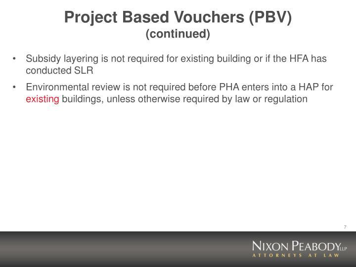 Project Based Vouchers (PBV)