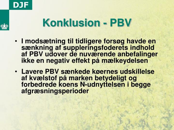 Konklusion - PBV