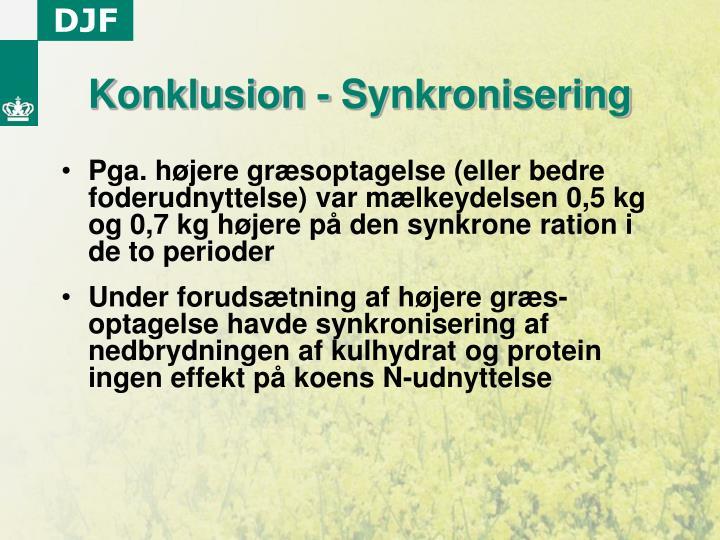 Konklusion - Synkronisering