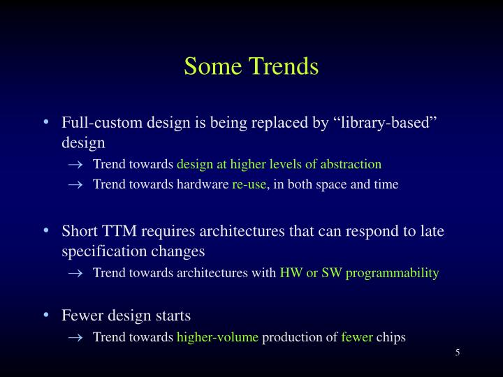 Some Trends