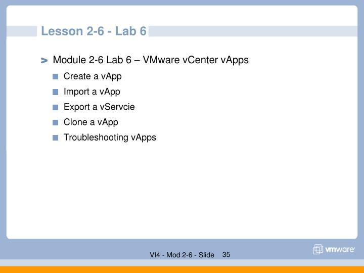 Lesson 2-6 - Lab 6