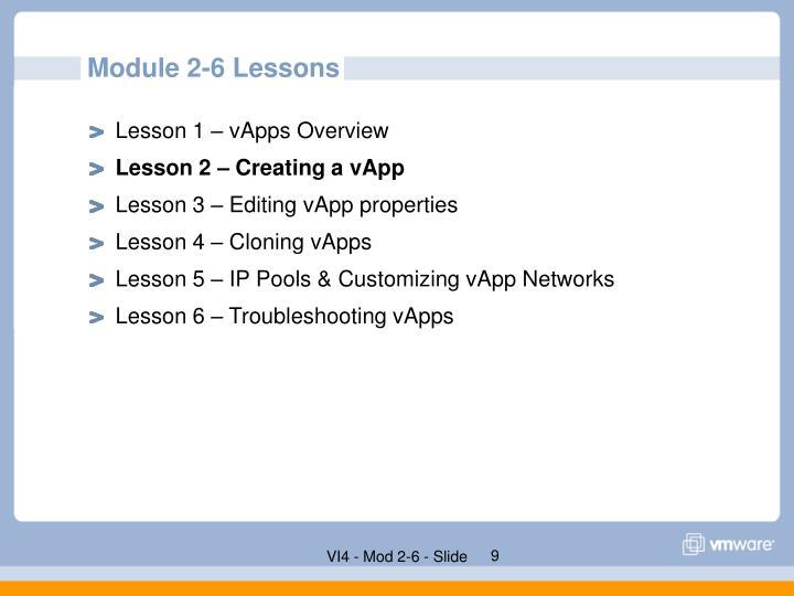 Module 2-6 Lessons