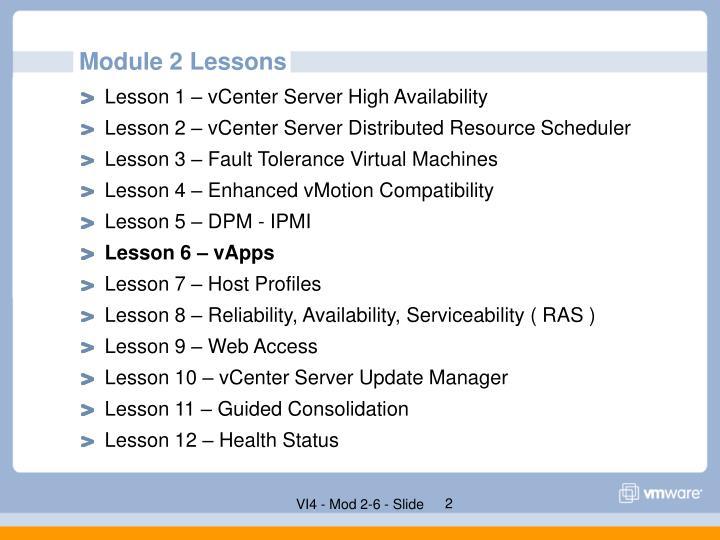 Module 2 Lessons