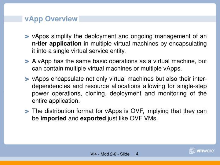 vApp Overview