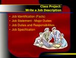 class project write a job description