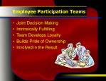employee participation teams