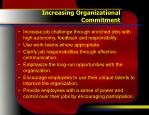 increasing organizational commitment