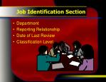 job identification section