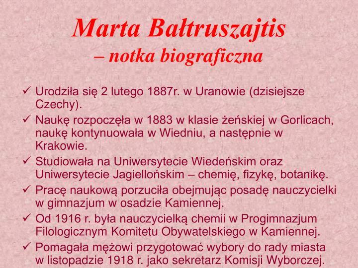 Marta Bałtruszajtis