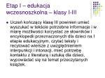 etap i edukacja wczesnoszkolna klasy i iii