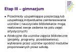 etap iii gimnazjum1