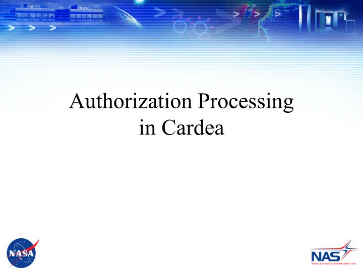 Authorization Processing