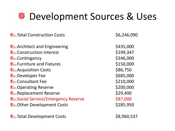Development Sources & Uses