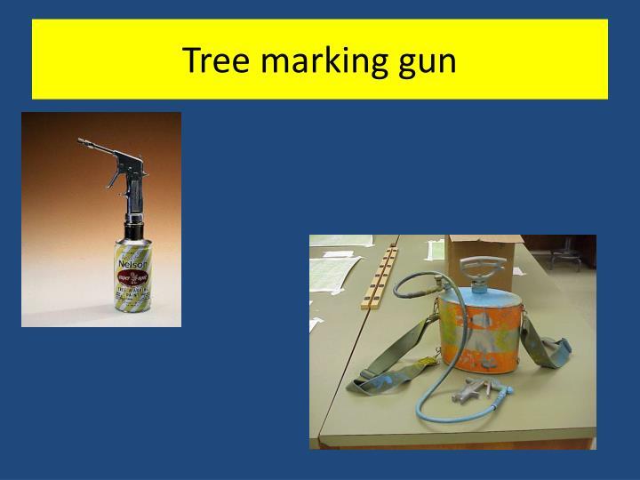 Tree marking gun