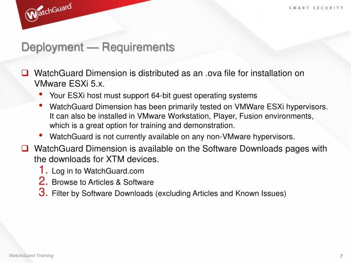 Deployment — Requirements