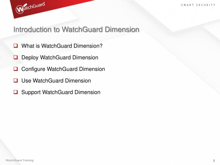 Introduction to watchguard dimension1