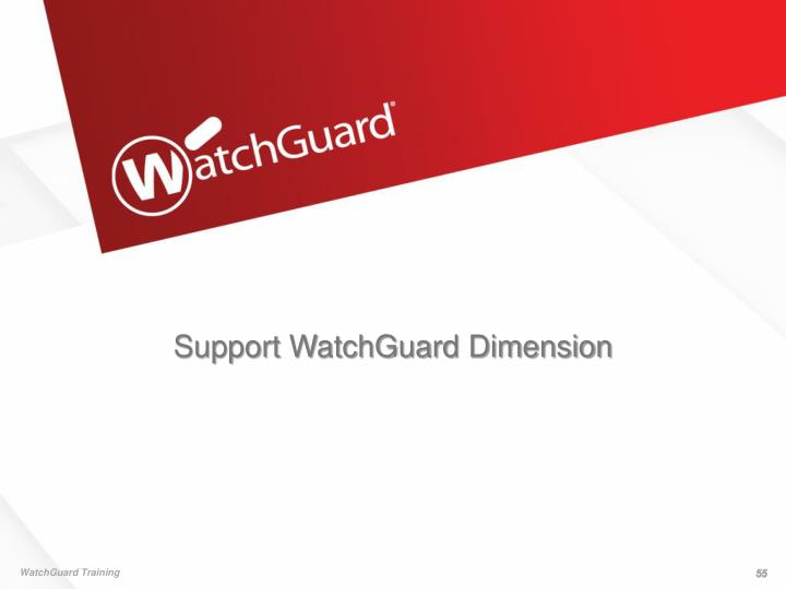 Support WatchGuard Dimension