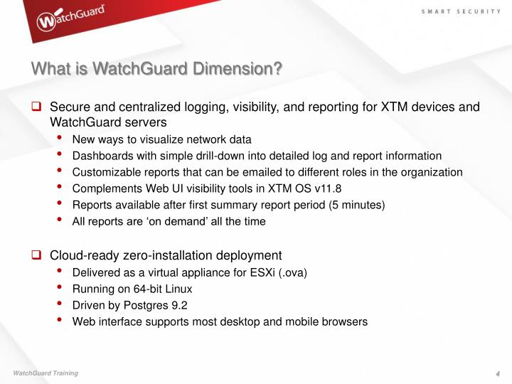 What is WatchGuard Dimension?