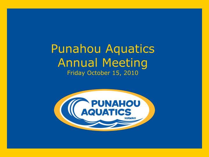 Punahou Aquatics