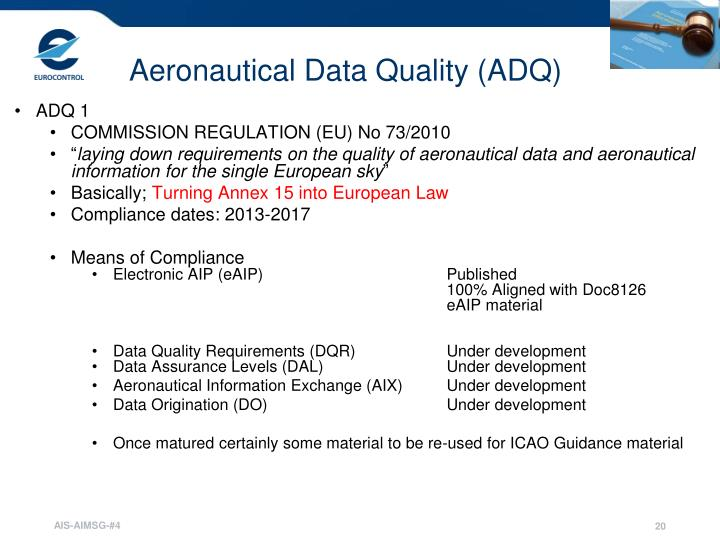 Aeronautical Data Quality (ADQ)