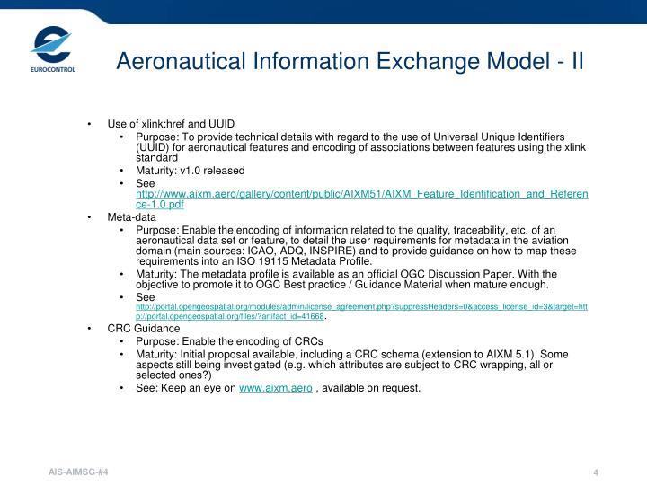 Aeronautical Information Exchange Model - II