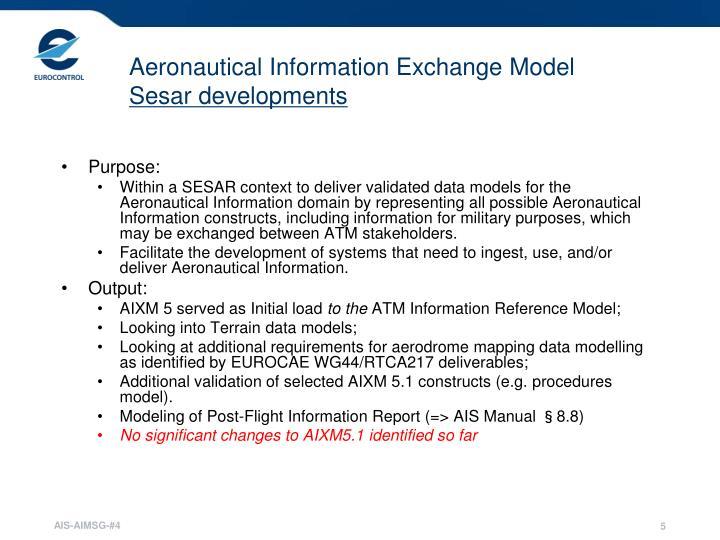 Aeronautical Information Exchange Model