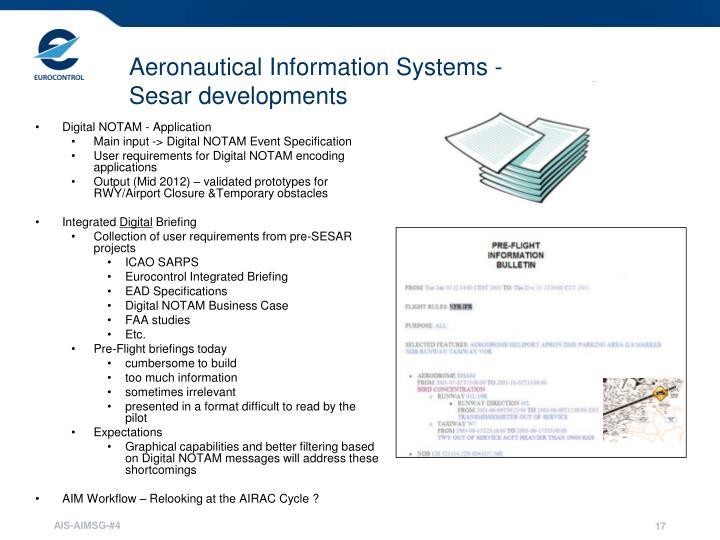 Aeronautical Information Systems -
