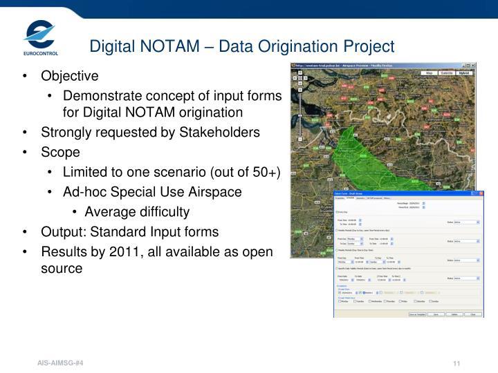 Digital NOTAM – Data Origination Project