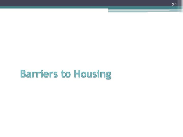 Barriers to Housing