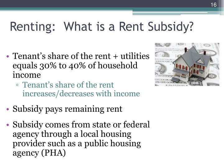 Renting:  What is a Rent Subsidy?