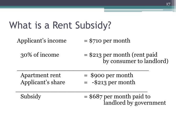 What is a Rent Subsidy?