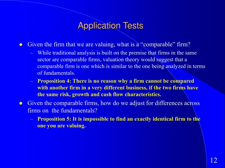 Application Tests