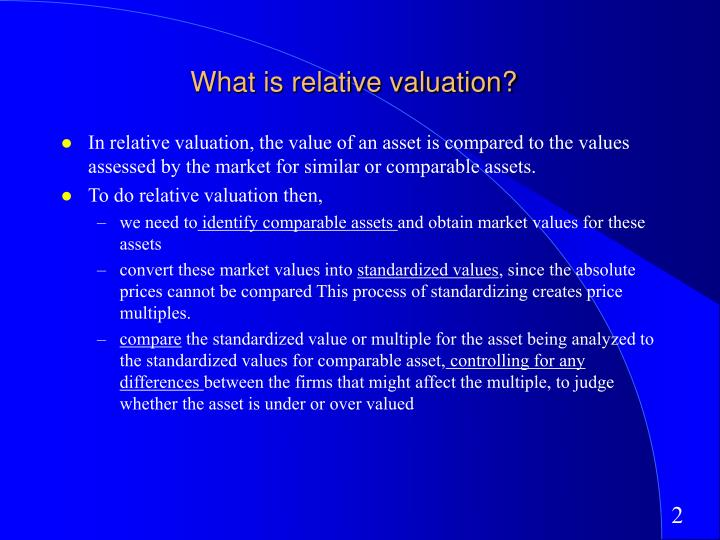 What is relative valuation