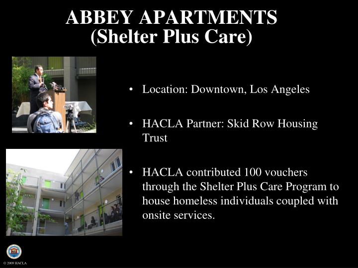ABBEY APARTMENTS (Shelter Plus Care)