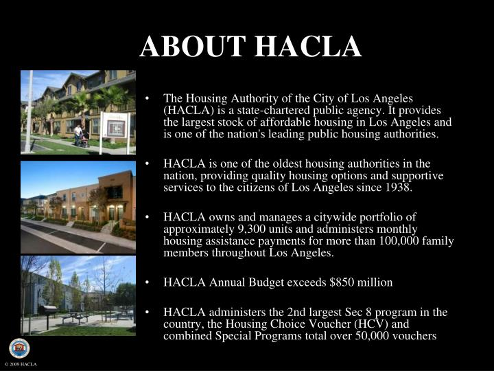 ABOUT HACLA