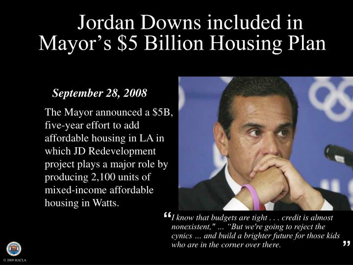 Jordan Downs included in Mayor's $5 Billion Housing Plan