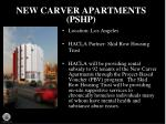new carver apartments pshp