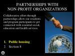 partnerships with non profit organizations