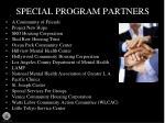 special program partners
