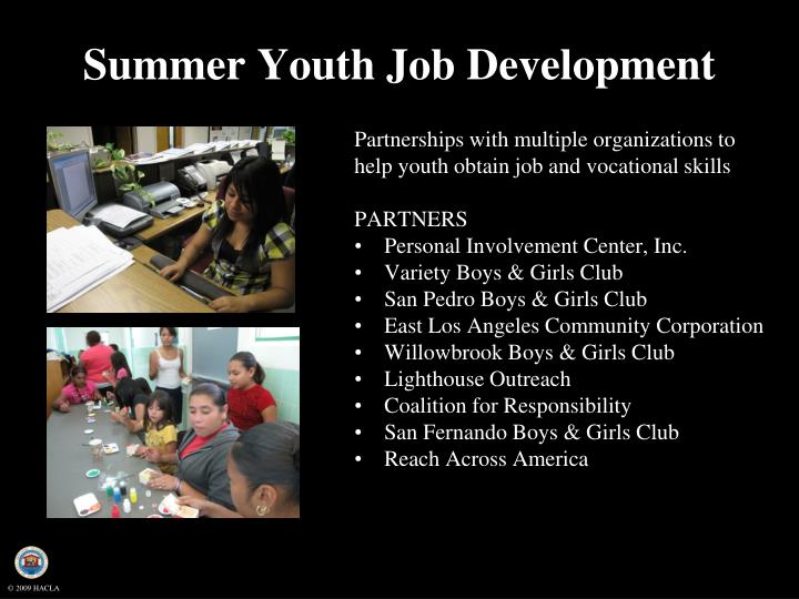 Summer Youth Job Development